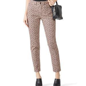 La Vie Rebecca Taylor Ocelot Ines Crop Jeans